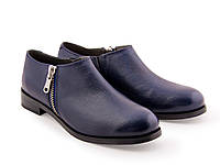 Синие туфли на змейке