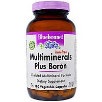 Мульти минералы (мультиминералы), Multi Minerals, Bluebonnet Nutrition, 180 капсул