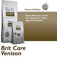 Корм для собак Brit Care Venison All Breed 1 кг, для собак всех пород с олениной и картофелем