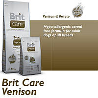 Корм для собак Brit Care Venison All Breed 12 кг, для собак всех пород с олениной и картофелем