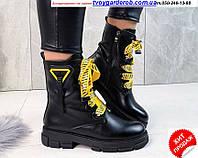 Женские ботинки деми кожзам р36-40(4320-00) 40, фото 1