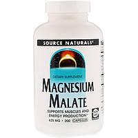 Магния малат, Source Naturals, 625 мг, 200кап