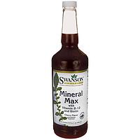 Мультиминералы, Mineral Max, Swanson, 32 fl oz (946 мл) жидкий