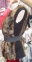 Меховая  жилетка  с довязом Батал р.50-56, фото 2
