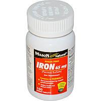 Железо, Mason Vitamins, 65 мг, 100 таблеток