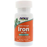 Железо, Now Foods, 36 мг, 90 капсул