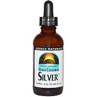 Коллоидное серебро 10 PPM, Source Naturals, 59.14 мл.