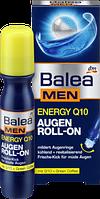 Массажный, охлаждающий ролик для кожи вокруг глаз Balea men Energy Q10, 15 мл.