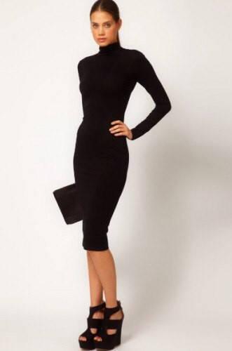 Платье-гольф (красное и черное)