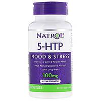 5-гидрокси L-триптофан (Mood Positive 5-НТР), Natrol, 100 мг, 30 кап.