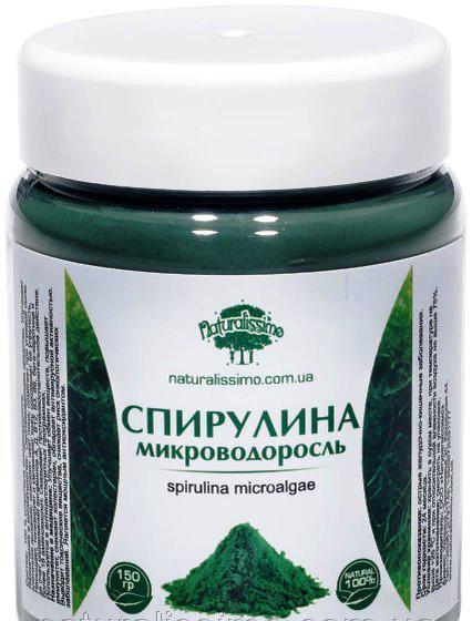 100% Спирулина микроводоросль (150г).