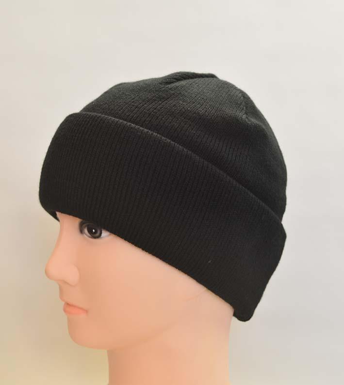 Двойная мужская шапка с отворотом, оптом