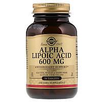 Альфа-липоевая кислота, Alpha Lipoic Acid, Solgar, 600 мг, 50 таб.