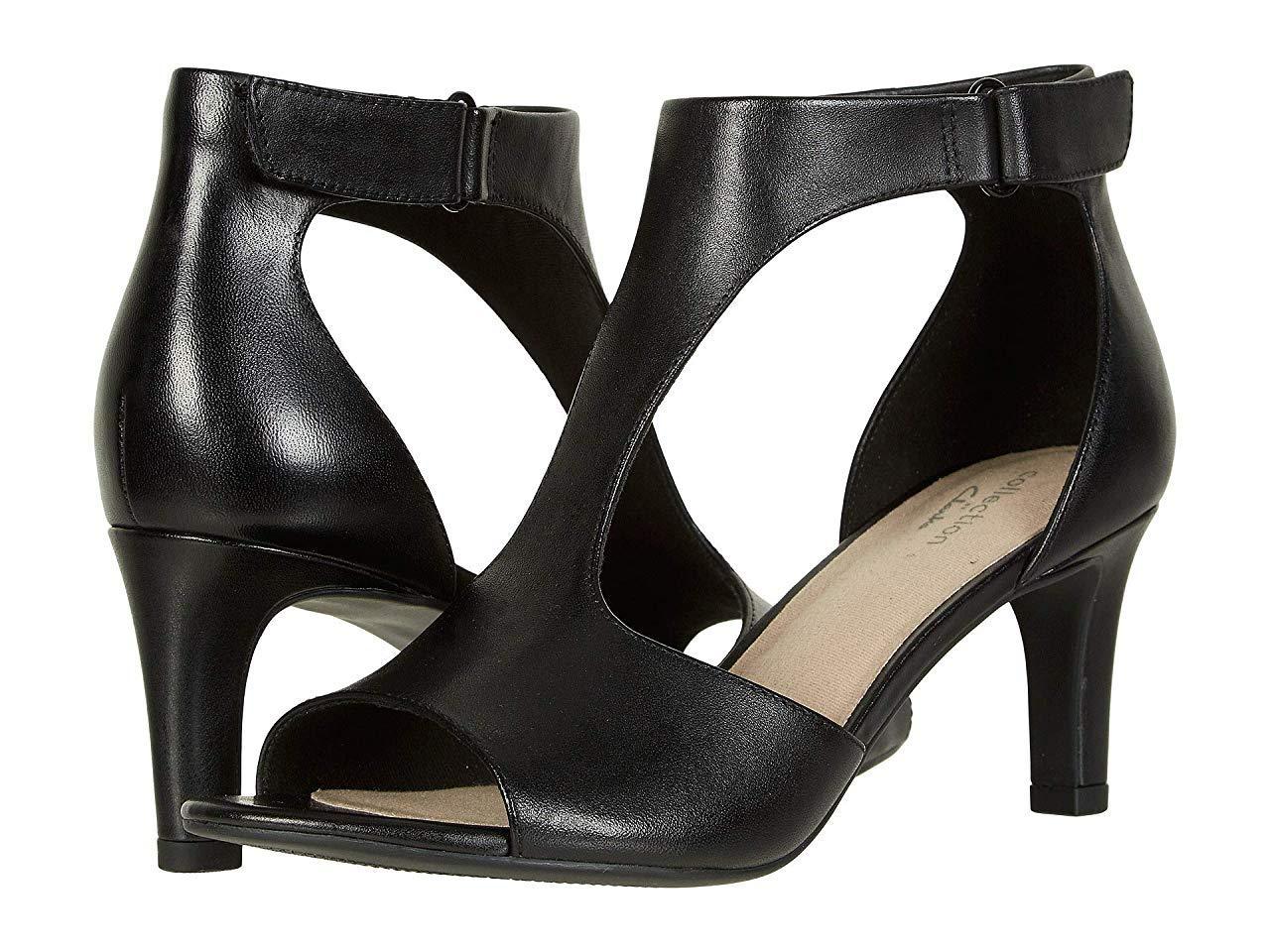 Туфли на каблуке Clarks Alice Flame Black Leather