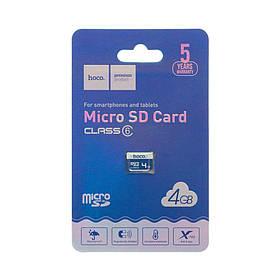 Карта Памяти Hoco MicroSD 4gb 6 Class