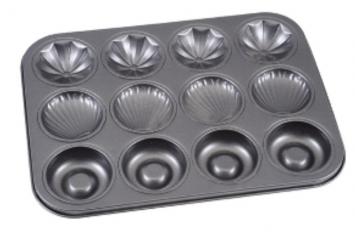 Форма для выпечки кексов Ассорти 36*27см,ячейки 35мл,40мл,40мл