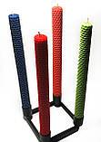 Свечи из цветной вощины катаные ручной работы (высота 26 см диаметр 2,3 см), фото 4