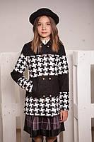 Демисезонное пальто свободного покроя для девочек
