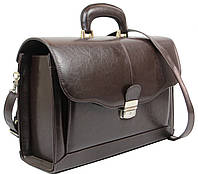 Мужской портфель-саквояж из эко кожи JPB Польша TE-83 коричневый