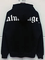 Худи Palm Angels Black / White черное, унисекс (мужское, женское, детское)