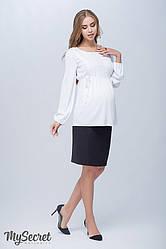 Спідниця для вагітних пряма з цупкої костюмної тканини. Юла Мама Alma SK-S 38.011