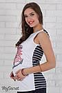 Майка для вагітних бавовняна Юла Мама Armina anchor LS-S 27.111, фото 2