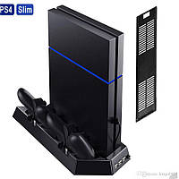 Подставка-зарядка + кулер  для джостиков PS4 SLIM