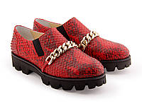 Туфли красная рептилия