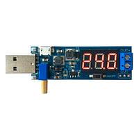 Преобразователь напряжения универсальный 3-12В на 1-24В, вольтметр USB