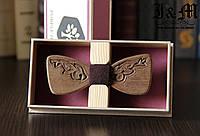 "Деревянная бабочка-галстук ""Purple Heart"" (103211)"