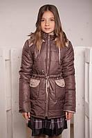 Демисезонное пальто парка для поздней осени для девочек