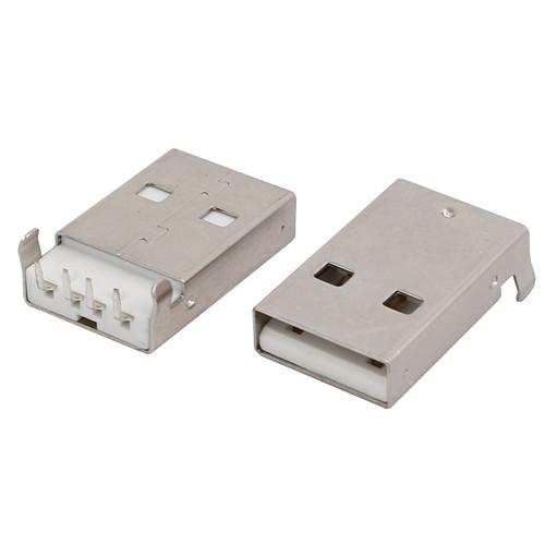 Разъем коннектор USB 2.0 папа 4pin AM 90 градусов DIP