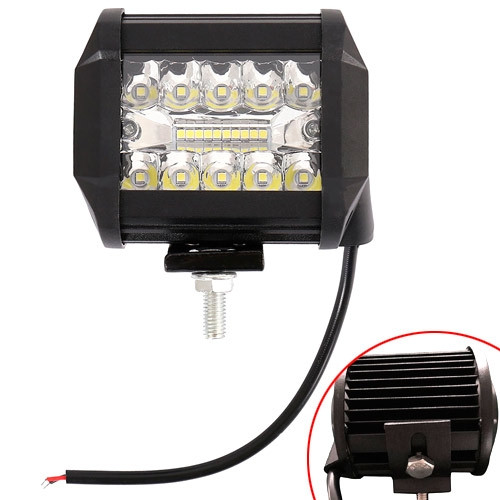 """Светодиодная LED панель фара дополнительного света для авто 4"""" 12В 60Вт"""