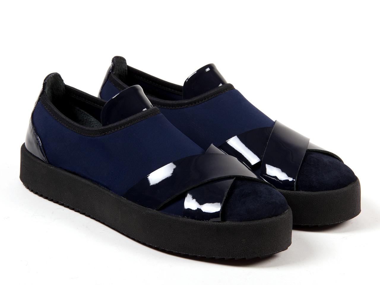 Слипоны Etor 5114-1462-2 синие