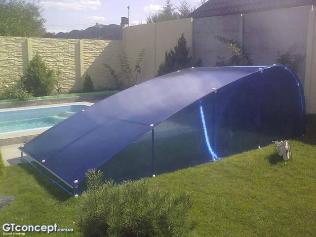 Навес-накрытие над бассейном 5х10 метров 3