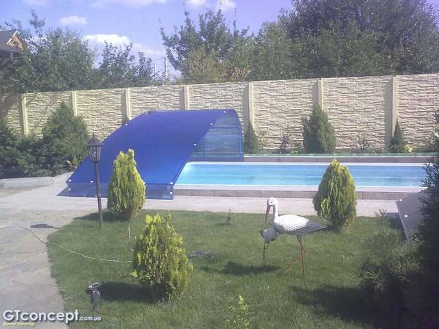 Навес-накрытие над бассейном 5х10 метров