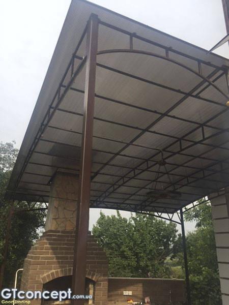 Навес над летней кухней 5х6 метров