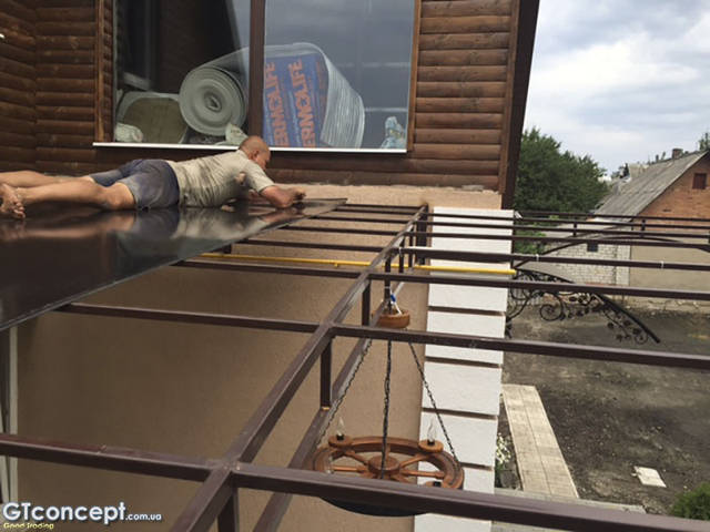 Навес над летней кухней 5х6 метров 5