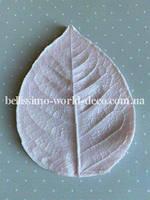 Молд лист розы реалистичный L, 9.7см х 7см