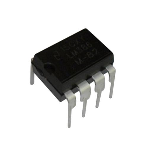 Чип LM386N LM386 DIP8, Низковольтный аудиоусилитель