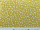 Штапель шелковистый неравномерные горошки, белый на горчичном, фото 2