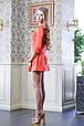 Платье с оборкой ФЛЕР коралловый, фото 3