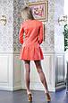 Платье с оборкой ФЛЕР коралловый, фото 4