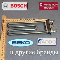 ТЕН 2000W / L=190мм (без отвору / без бурту)для пральної машини Indesit і Ariston
