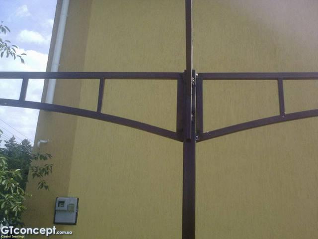 Арочный автонавес из поликарбоната 4х8 метров 8