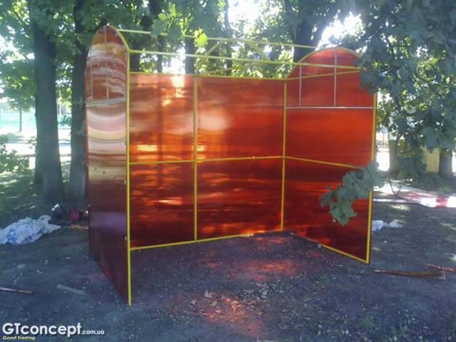 Навес над кофейным аппаратом и холодильником 2.76х1.70 метров 2