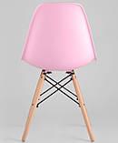 Стул Тауэр Вуд розовый пластик ножки бук СДМ группа (бесплатная доставка), фото 5