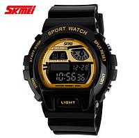 Часы военные Skmei 1010 Black-Gold