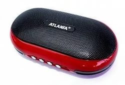 Портативная колонка Радиоприемник Atlanfa AT-6521+усиленный бас+аудио выход для наушников+съемный аккумулятор