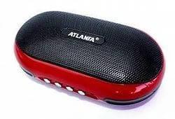 Портативная колонка Радиоприемник Atlanfa AT-6521+усиленный бас+аудио выход для наушников+съемный аккумулятор , фото 2